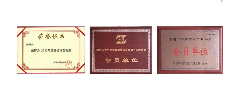 2012年奖状与荣誉